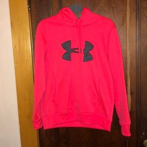 Neon Pink Under Armour Hoodie